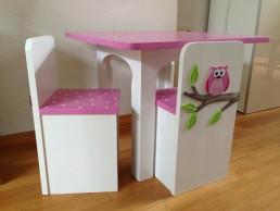 kindermeubelsetje tafel en 2 stoelen