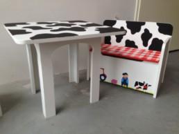 kindermeubelsetje tafel en opbergbankje