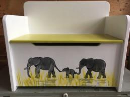 opbergbankje olifanten