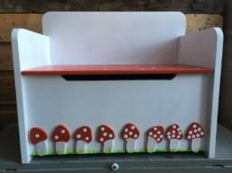 opbergbankje paddenstoeltjes