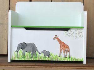 opbergbankje 2 olifanten en een giraf