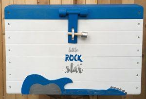 Speelgoedkist geboorte Iron | geschilderd kraamcadeau kids wonen