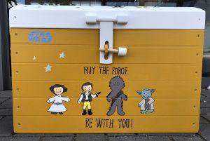 speelgoedkist geboorte Mette | geschilderd kraamcadeau kids Wonen
